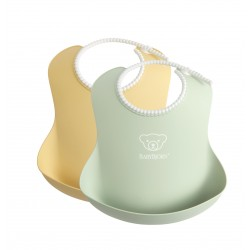 BabyBjörn soft bib Powder Yellow/Green