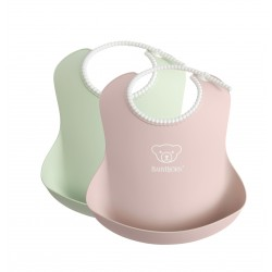 BabyBjörn soft bib Powder Green/Pink
