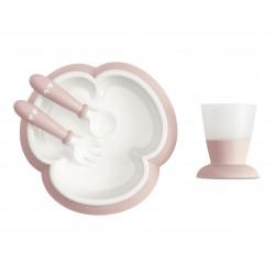 BabyBjörn jídelní set 4 dílný Powder Pink