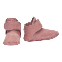 Lodger Walker Leather Baby Booties Pink