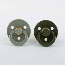BIBS pacifier 100% natural rubber size 1 Sage/Hunter Green