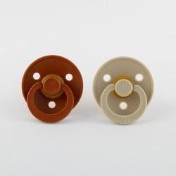 BIBS pacifier 100% natural rubber size 1 Rust/Vanilla