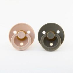 BIBS pacifier 100% natural rubber size 1 Blush/Dark Oak