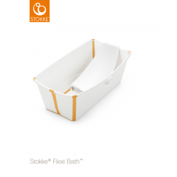 Stokke Flexi Bath + Flexi Bath Support White Yellow