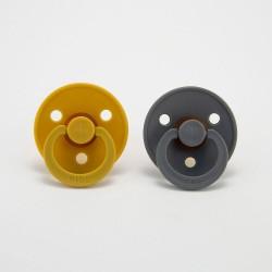 BIBS pacifier 100% natural rubber size 1 Mustard/Cloud