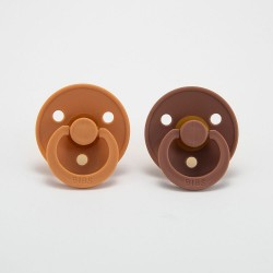BIBS pacifier 100% natural rubber size 1 Peach/Woodchuck