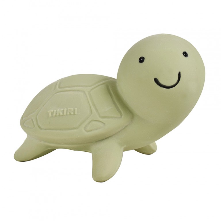 Tikiri Ocean pure natural rubber teether & squeaker Turtle