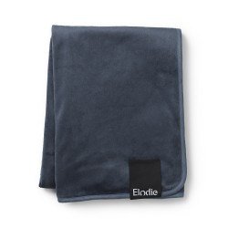 Elodie Details Pearl velvet Blanket Juniper Blue
