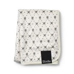 Elodie Details Pearl velvet Blanket Monogram Print