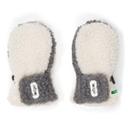 Lodger Mittens Teddy 6-12m Off White