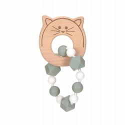 Lässig dřevěné kousátko s korálky Little Chums Cat