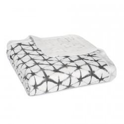 Aden + Anais Silky Soft Dream Blanket Pebble Shibory