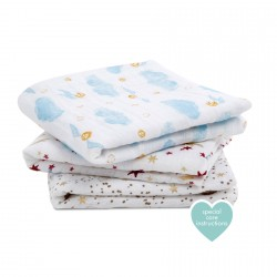 Aden + Anais Musy Muslin Squares 3-pack Metallic Harry Potter
