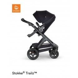 Stokke Trailz with Terrain Wheels Black Black