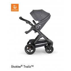 Stokke Trailz with Terrain Wheels Black Black Melange