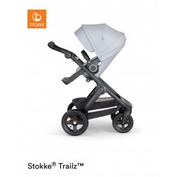 Stokke Trailz with Terrain Wheels Black Grey Melange