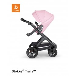 Stokke Trailz with Terrain Wheels Black Lotus Pink