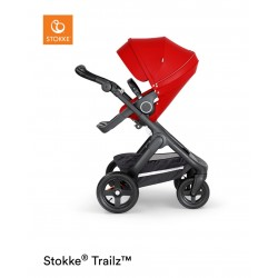 Stokke Trailz with Terrain Wheels Black Red