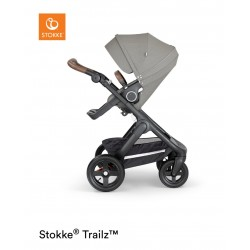 Stokke Trailz with Terrain Wheels Black Brushed Grey