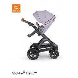 Stokke Trailz with Terrain Wheels Black Brushed Lilac