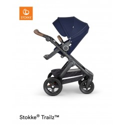 Stokke Trailz with Terrain Wheels Black Deep Blue