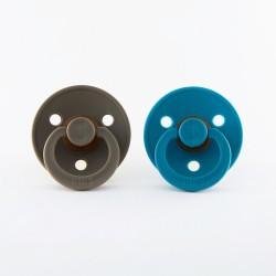 BIBS pacifier 100% natural rubber size 1 Dark Oak/Dark Teal