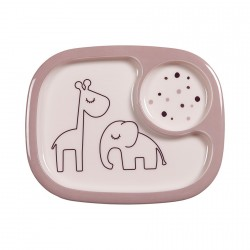 Done by Deer Yummy mini compartment plate Dreamy dots