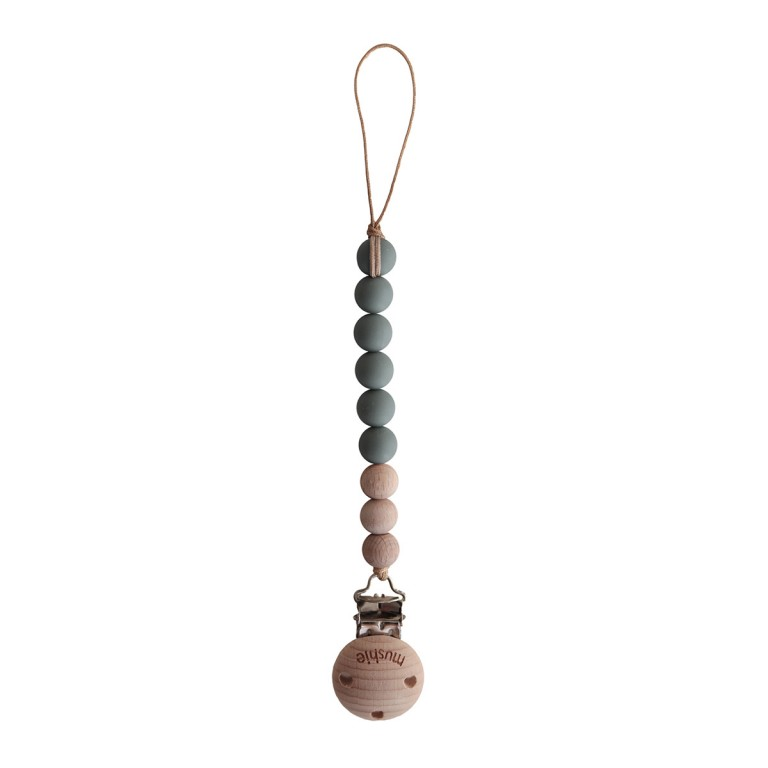 Mushie pacifier clip DRIED THYME