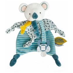 DouDou et Compagnie Koala Blanket with pacifier clip 20cm