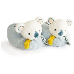 DouDou et Compagnie Koala Baby Booties with rattle 0-6m