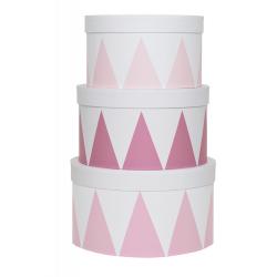 Jabadabado Úložné boxy kulaté 3ks růžové