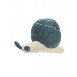 Lässig Knitted Toy with Rattle Garden Explorer snail