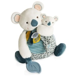 DouDou et Compagnie Koala Doll with baby & Teething Ring 25cm