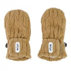 Lodger rukavice Mittens Empire Fleece 6-12m Dark Honey