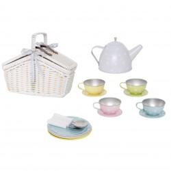 Jabadabado čajový set v košíku pastelový