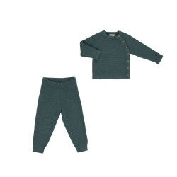 Voksi merino sweater + trousers Honeycomb 74-80