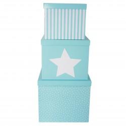 Jabadabado úložné boxy 3ks modré
