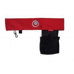 Aesthetic ochranný potah na madlo s kapsou Červená
