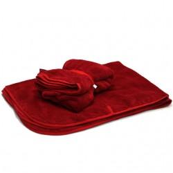 Aesthetic deka na kočárek s úchyty 307 - červená jahodová