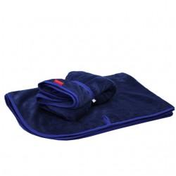 Aesthetic deka na kočárek s úchyty 335 - modrá přímá