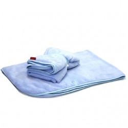 Aesthetic deka na kočárek s úchyty 337 - modrá mořská