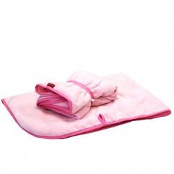 Aesthetic deka na kočárek s úchyty 303 - růžová světlá