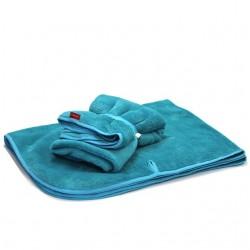 Aesthetic blanket with hooks 351 - zelená mořská