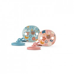 Suavinex round soother clip FOREST