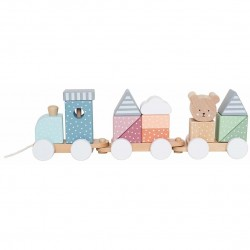 Jabadabado Train with blocks Teddy