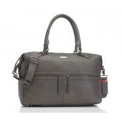 Storksak Caroline Leather Storm Grey
