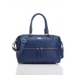 Storksak Caroline Leather Royal Blue