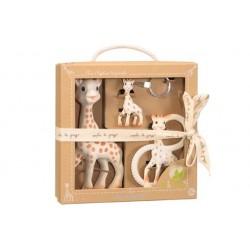 Vulli trio Žirafa Sophie + kousátko + klíčenka So'Pure
