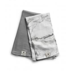Elodie Details deky z bambusového mušelínu 80x80 cm 2ks Marble Grey