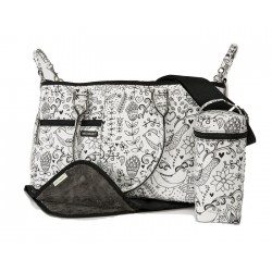 Melobaby Melotote Love bag Black & White